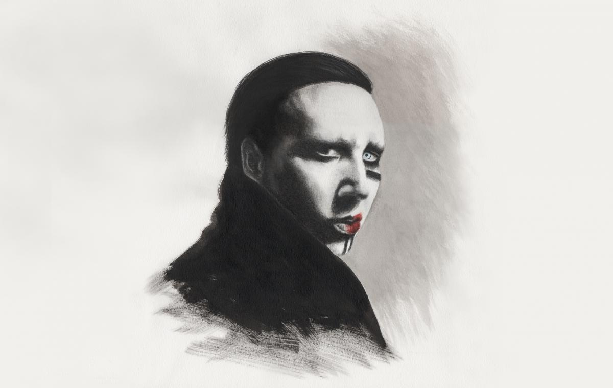 Marilyn Manson; Illustration: Valentina Thurnherr